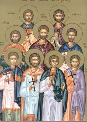 Οι Άγιοι εννέα μάρτυρες της Κυζίκου